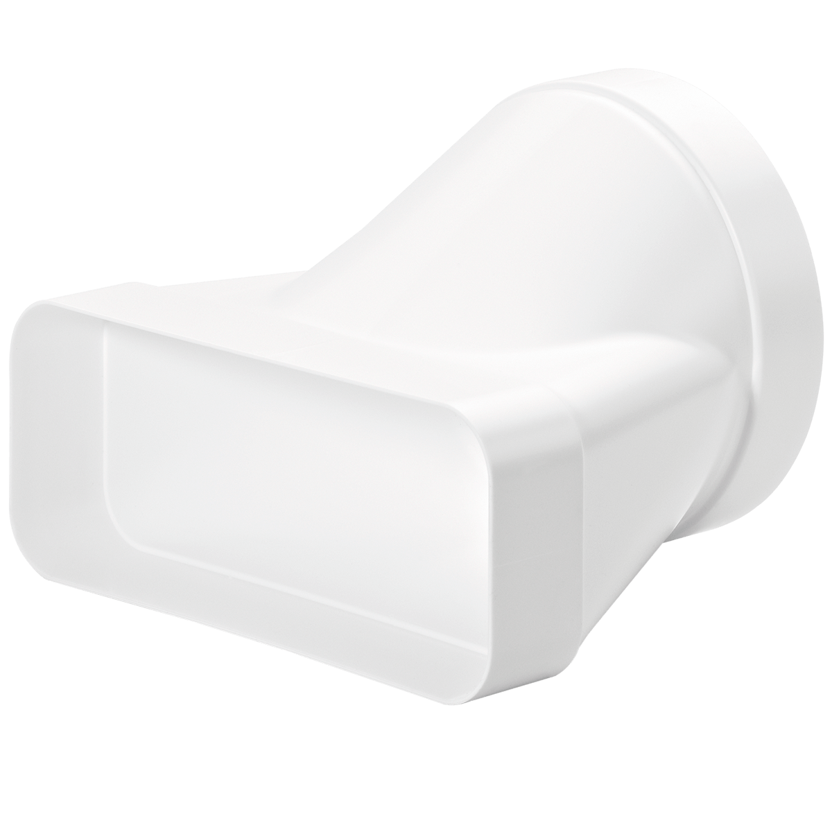 Naber adapteur rond 150 mm vers tubage plat, double femelle