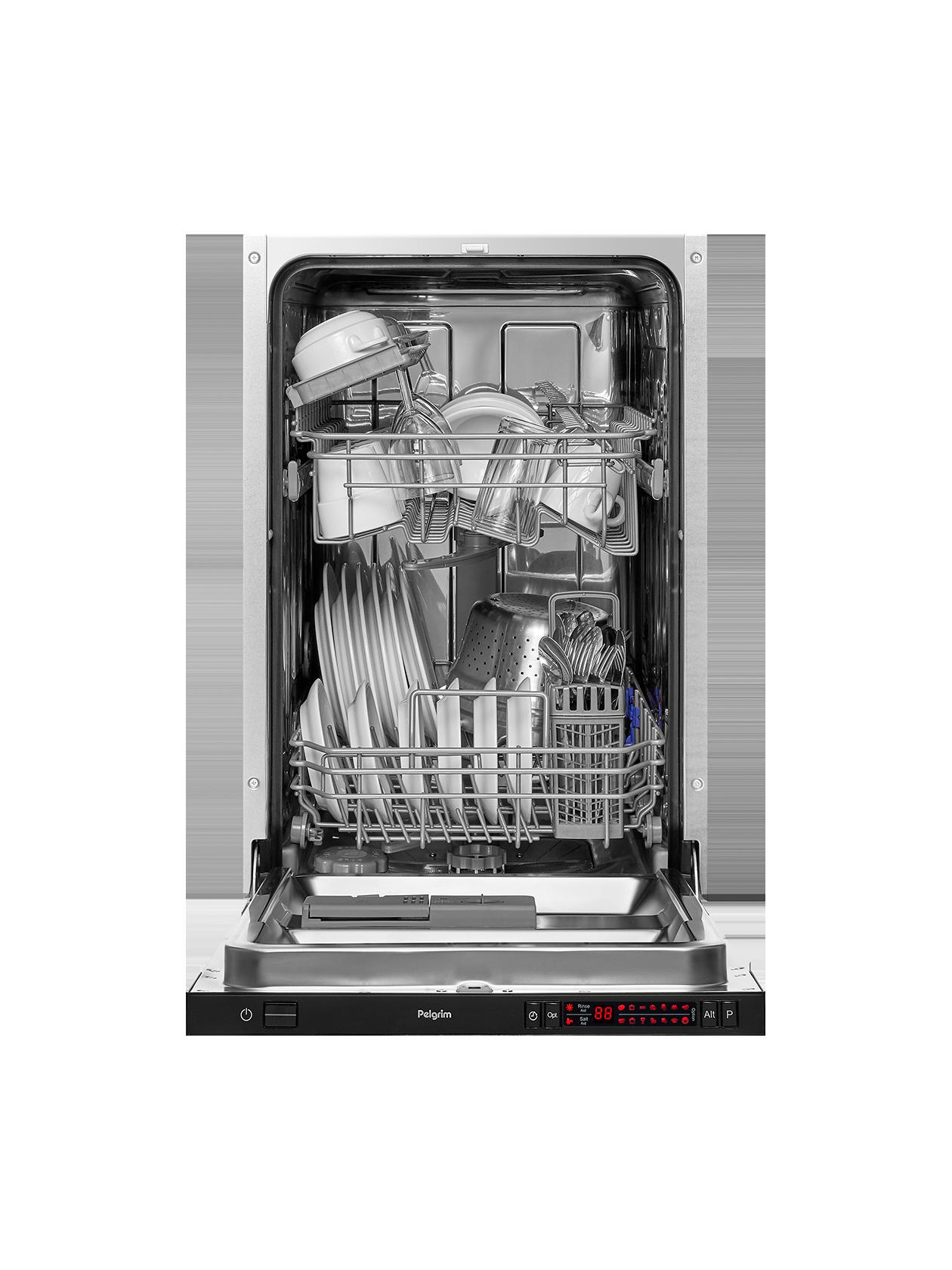 Lave-vaisselle avec porte à glissières, 82 cm de haut, tiroir à couverts supplémentaire