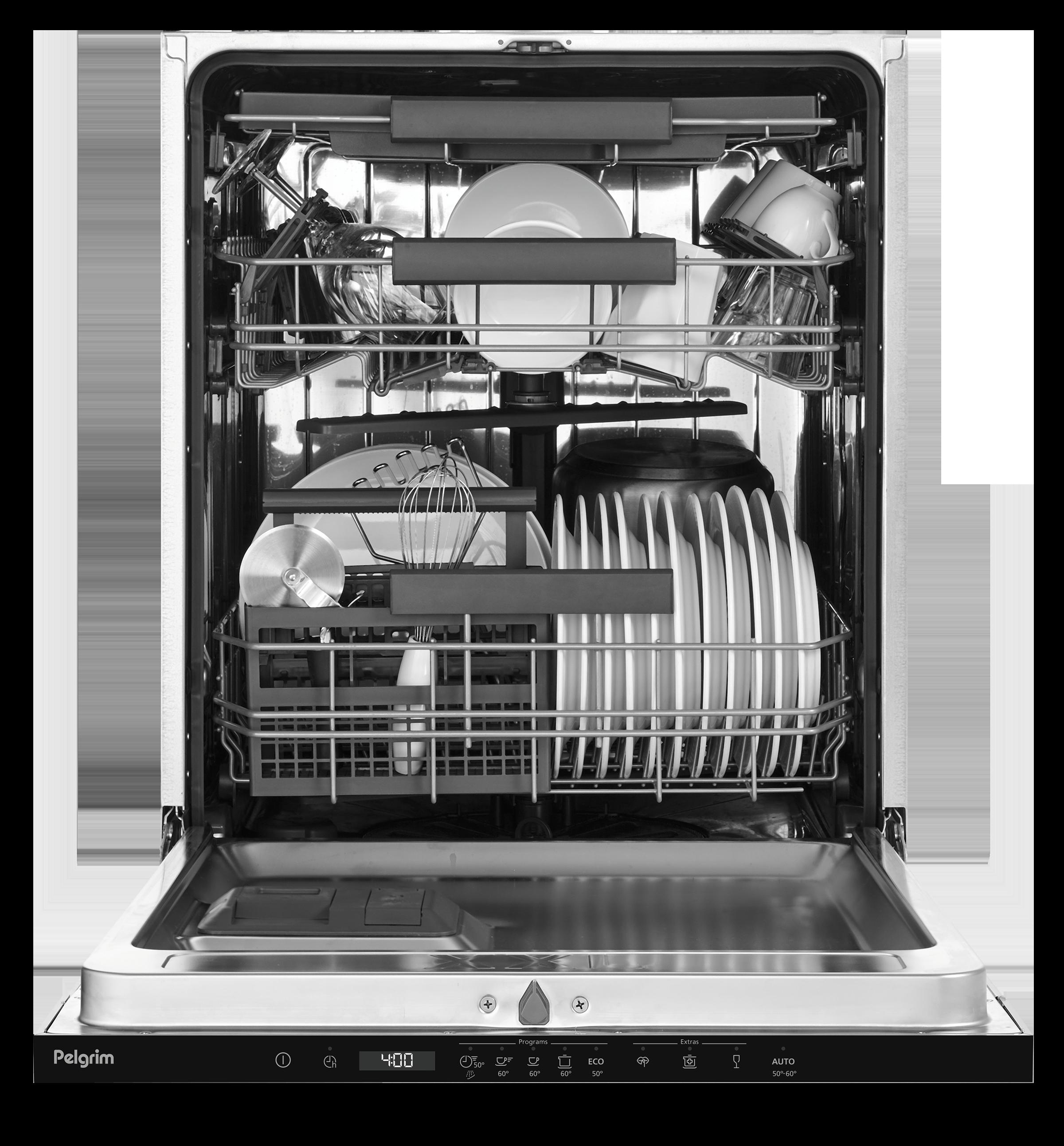 Lave-vaisselle avec porte à glissières, 82 cm de haut, tiroir à couverts supplé